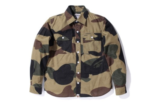 A Bathing Ape GIANT 1ST CAMO FLANNEL SHIRT