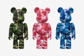 A Bathing Ape x Medicom Toy Camo Bearbricks