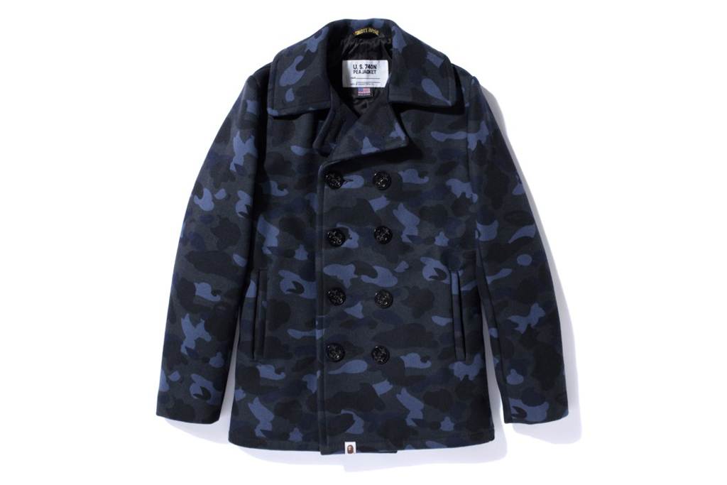 A Bathing Ape x Schott NYC 1ST CAMO PEA COAT