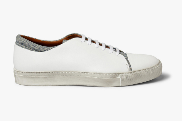 acne carlo leather amp denim shoes