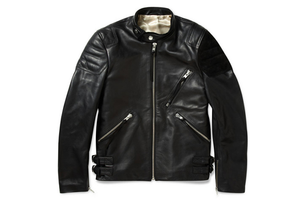 Acne Oliver Leather & Suede Biker Jacket