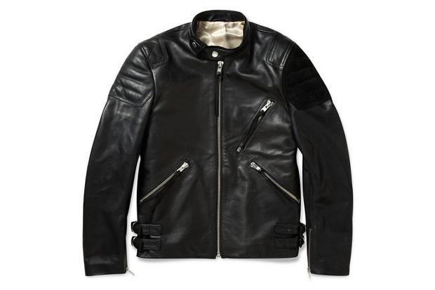 acne oliver leather amp suede biker jacket