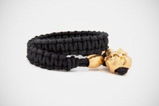 Alexander McQueen Woven Skull Bracelet