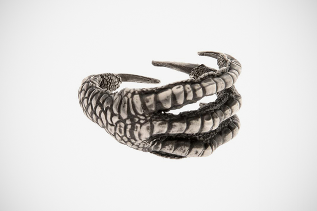 Ann Demeulemeester Oxidized Sterling Silver Claw Ring