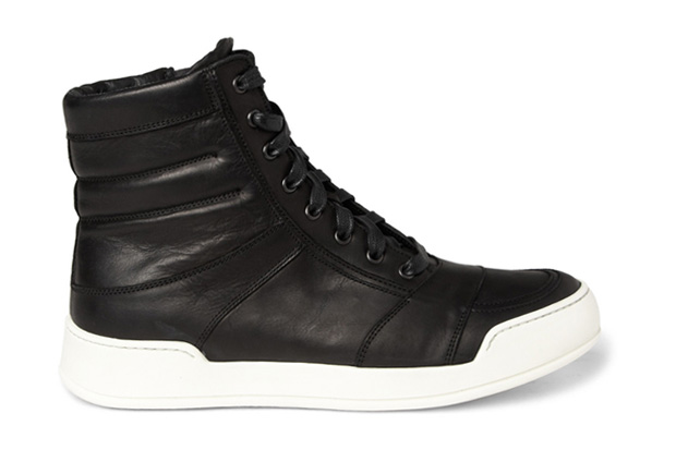 balmain 2012 springsummer leather high top sneaker