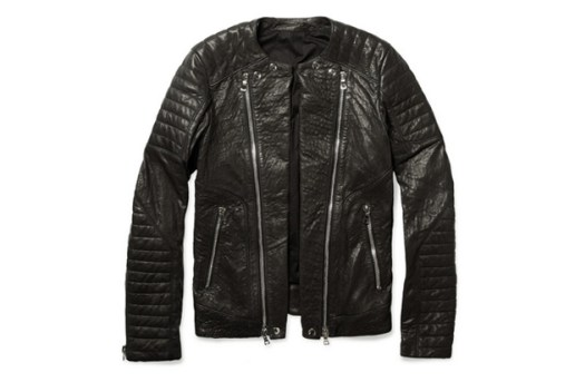 Balmain Zipped Padded Leather Biker Jacket