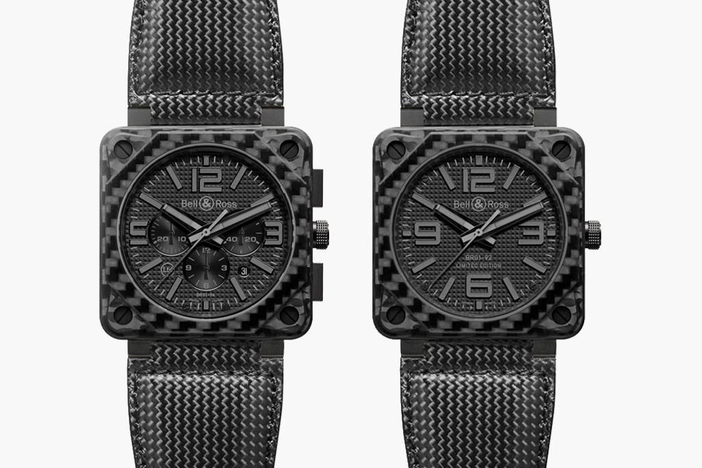 Bell & Ross Aviation Carbon Fiber Phantom Collection