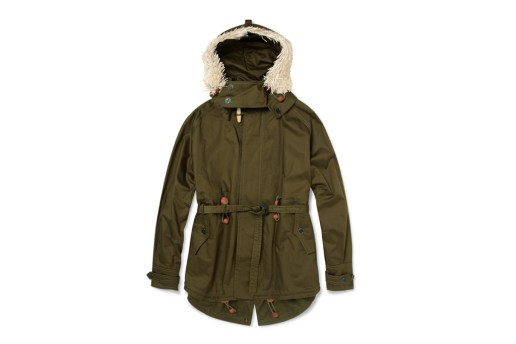 Burberry Prorsum Raffia Cotton Twill Parka