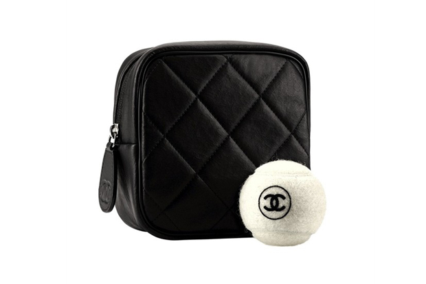 chanel french cane tennis racket set