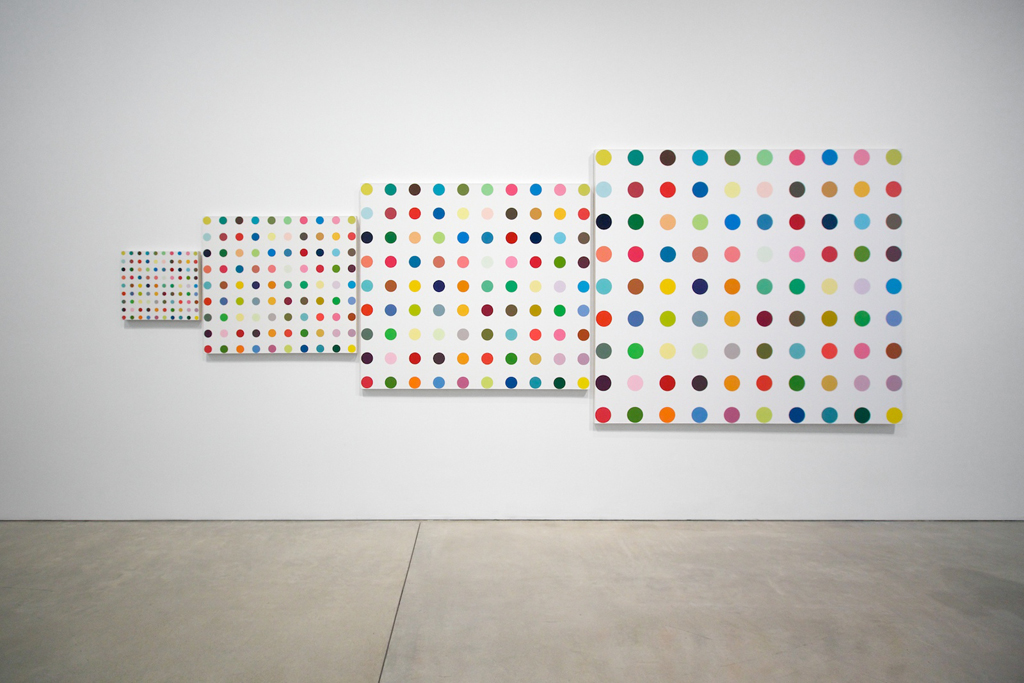 "Damien Hirst ""The Complete Spot Paintings 1986-2011"" @ Gagosian Gallery Recap"