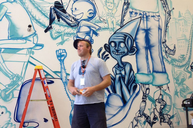 David Choe Paints New Facebook Headquarters