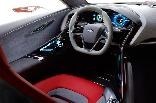 ford evos concept with sync controlled apps