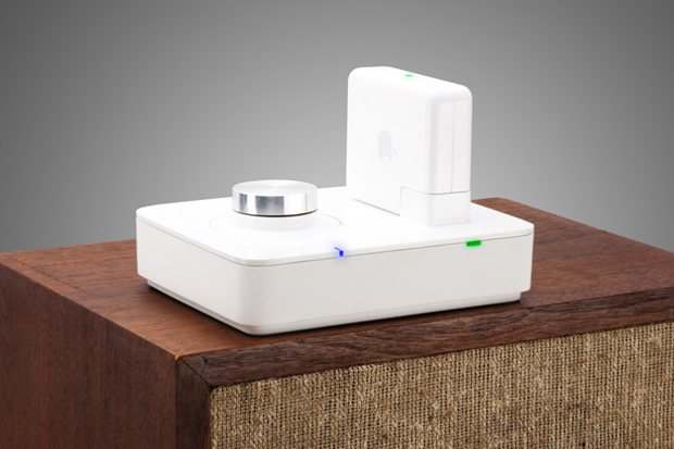 http://hypebeast.com/2012/1/griffin-twenty-audio-amplifier-for-airport-express