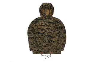 Heritage Research Tiger Pattern Longline Waxed Parka