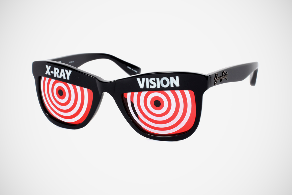 jeremy scott x linda farrow xray sunglasses