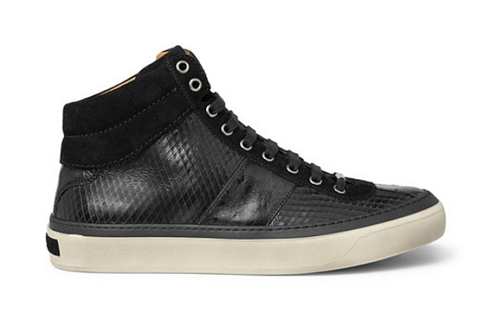Jimmy Choo Belgravia Scored Leather High Top