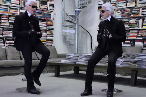 Face to Face: Karl Lagerfeld Interviews Himself