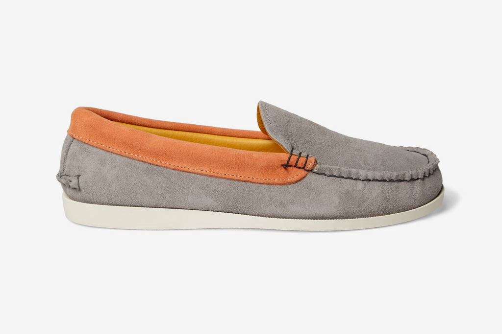 kitsune x quoddy two tone suede boat shoes