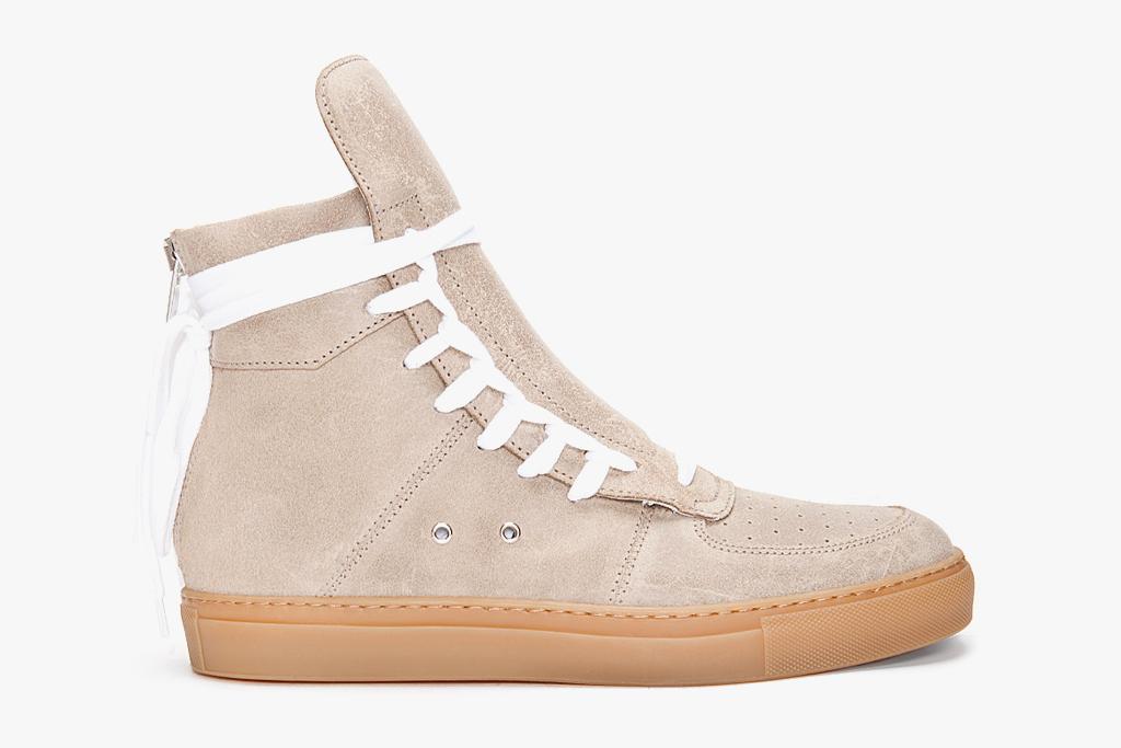 KRIS VAN ASSCHE 2012 Spring/Summer High-Top Suede Sneakers