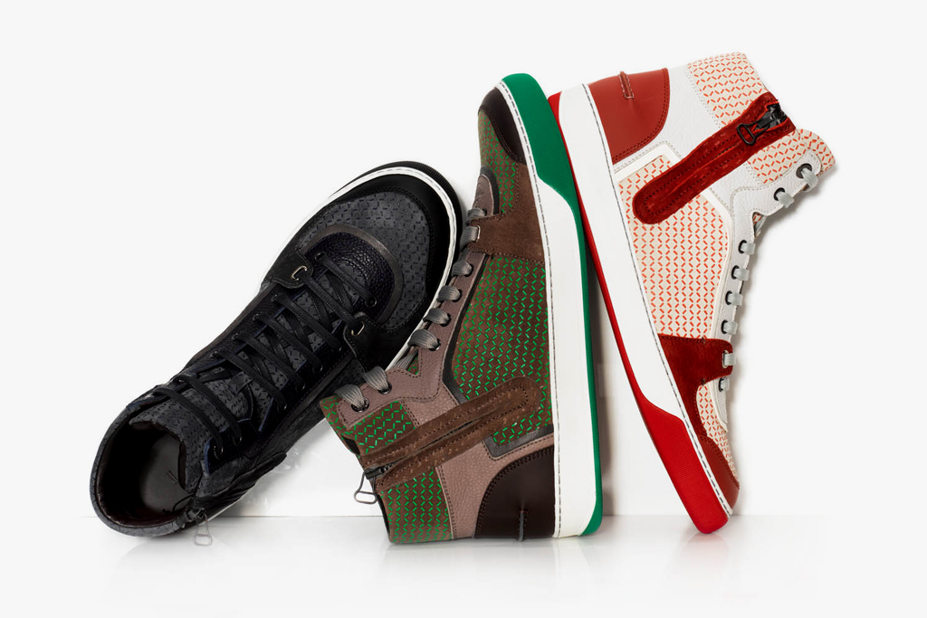 lanvin 2012 springsummer printed calfskin medium high zipped trainers