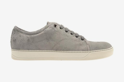 "Lanvin ""Scale Effect"" Leather Trainers"