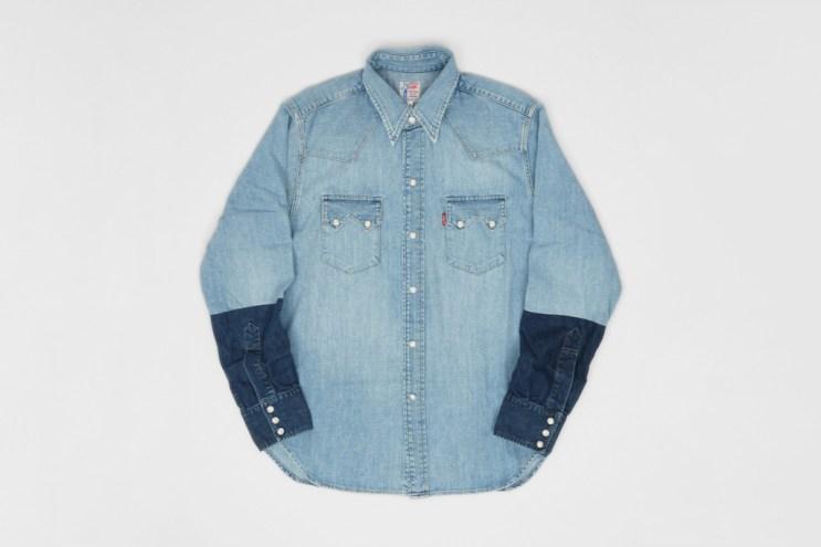 Levi's Vintage Clothing Customised Sawtooth Denim Shirt