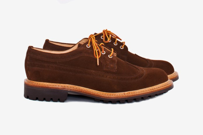 "Mark McNairy for Tres Bien Shop ""Snuff Brown"" Long Wing Brogue"