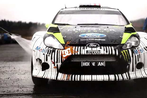 Monster World Rally: Ken Block tests Ford Fiesta H.F.H.V. in Twin Peaks Territory
