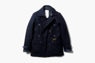 NEIGHBORHOOD Classic Wool Pea Coat