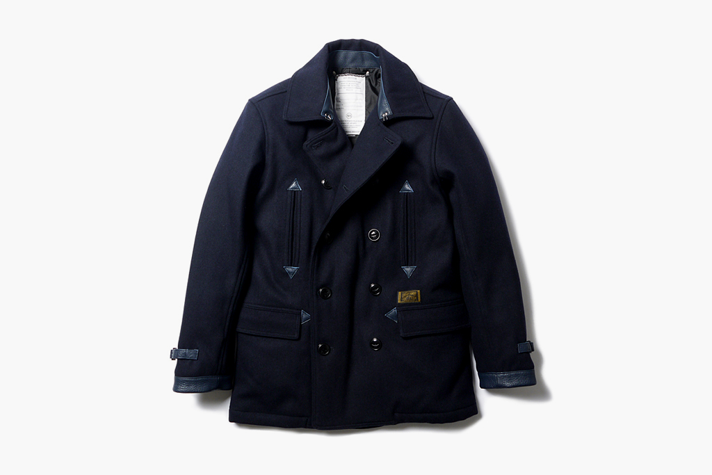 NEIGHBORHOOD Classic Wool Pea Coat