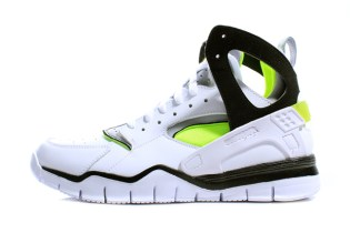 Nike 2012 Air Huarache Free Basketball White/Black/Volt