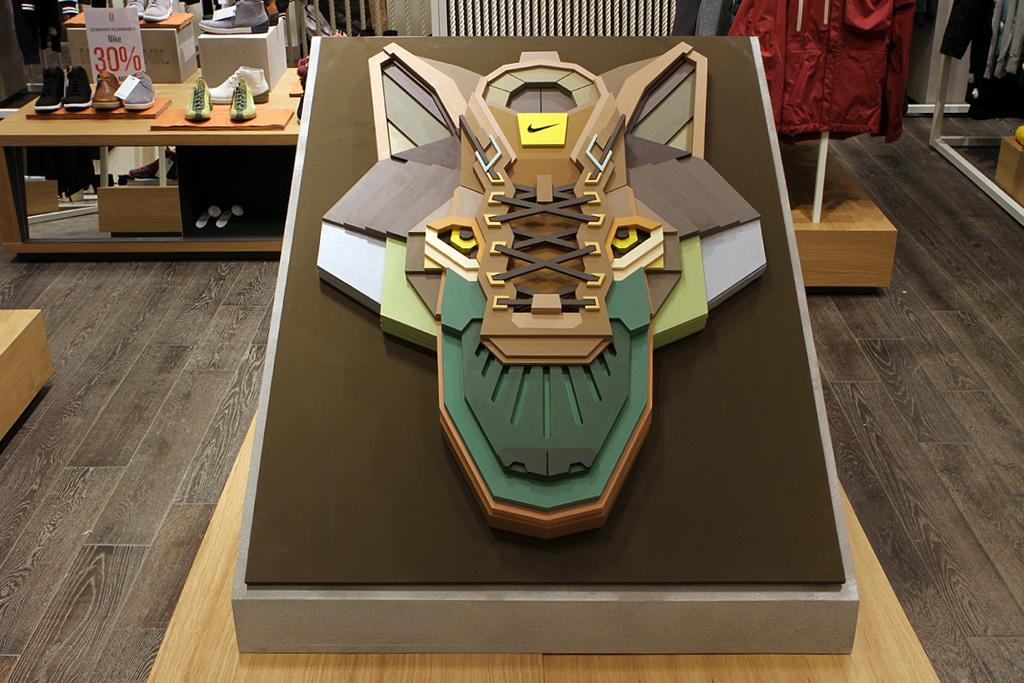 "Nike Sportswear x Sicksystems 'The Wolf"" Plywood Sculpture"