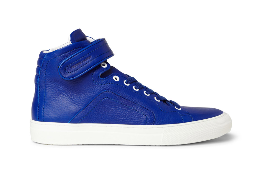 Pierre Hardy Leather High Top Sneakers