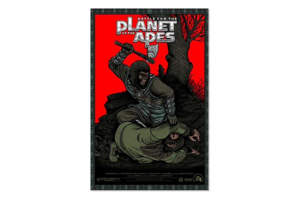 planet of the apes print series