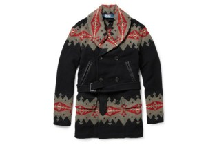 Polo Ralph Lauren Native American Patterned Wool-Blend Coat