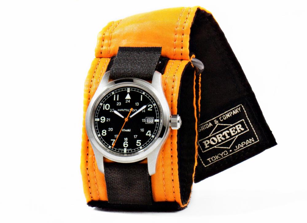 Porter x Hamilton 77th Anniversary Limited Edition Khaki Field Auto Watch