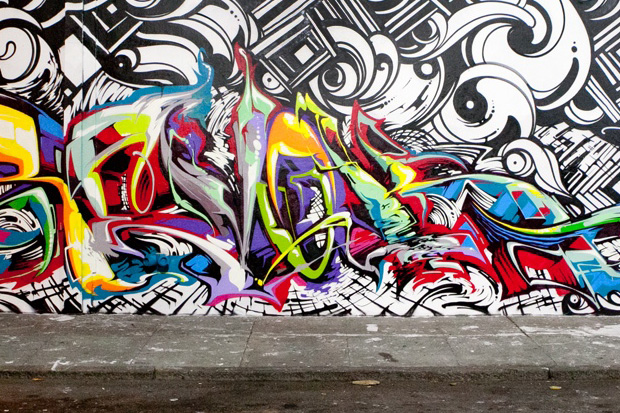 revok x steel x reyes new mural in long beach