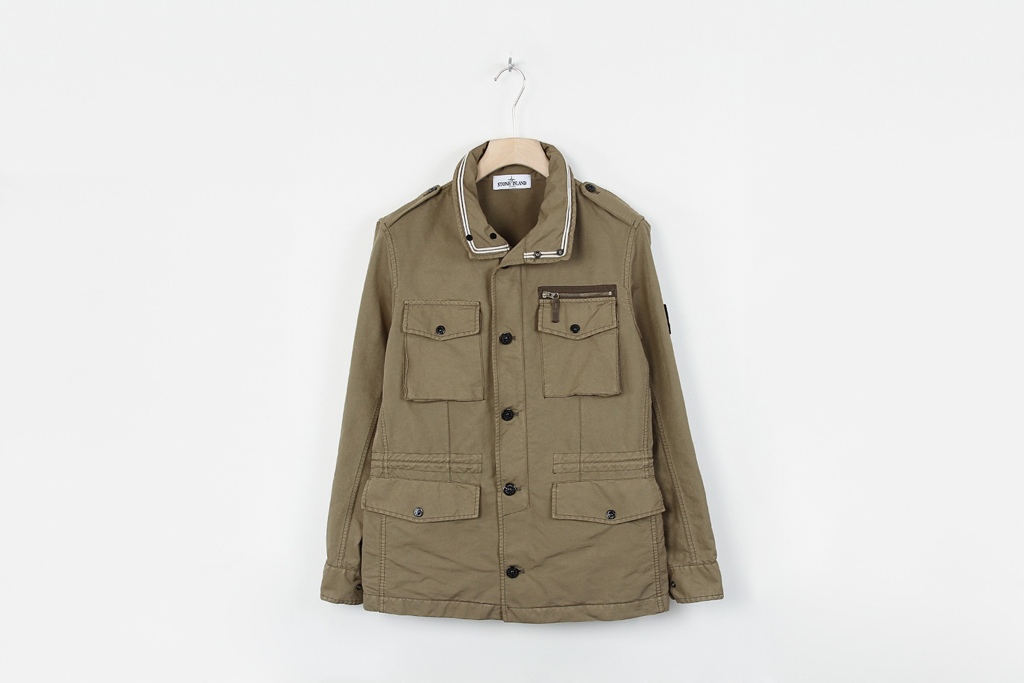 stone island david tc khaki field jacket hypebeast. Black Bedroom Furniture Sets. Home Design Ideas