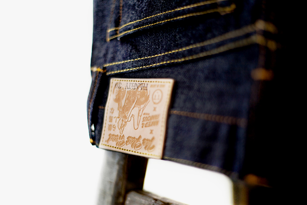 "The Flat Head x Naked & Famous for Tate + Yoko 14.5 oz ""Weird Guy"" Denim"