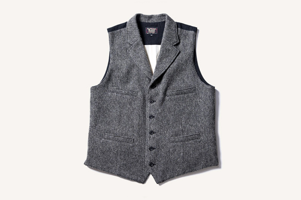 The Rugged Museum BIRDS EYE TWEED LAPELED VEST