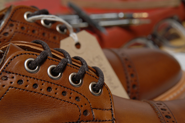 Tricker's for End Hunting Co. Burnished Toe Cap Brogue & Boot