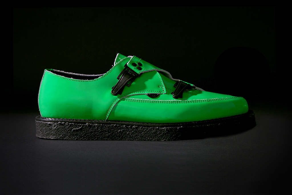 Underground for Mugler Neon Patent Leather Shoe