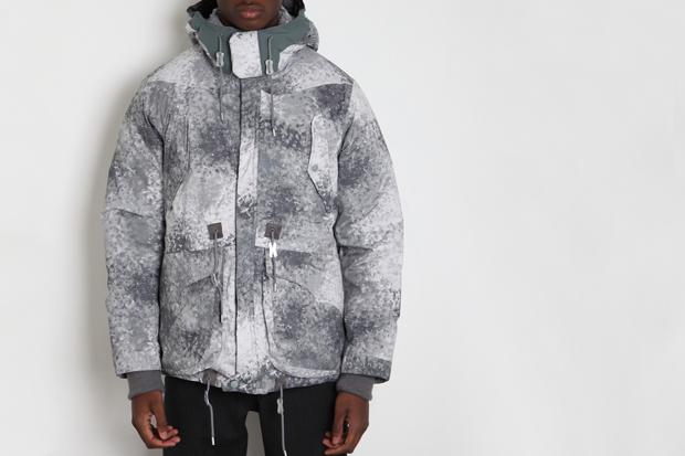 White Mountaineering Pertex Digital Camo Middle Down Jacket