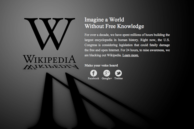 Wikipedia Anti-SOPA Blackout