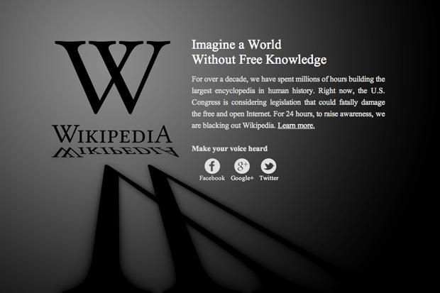 Wikipedia Anti-SOPA Blackout