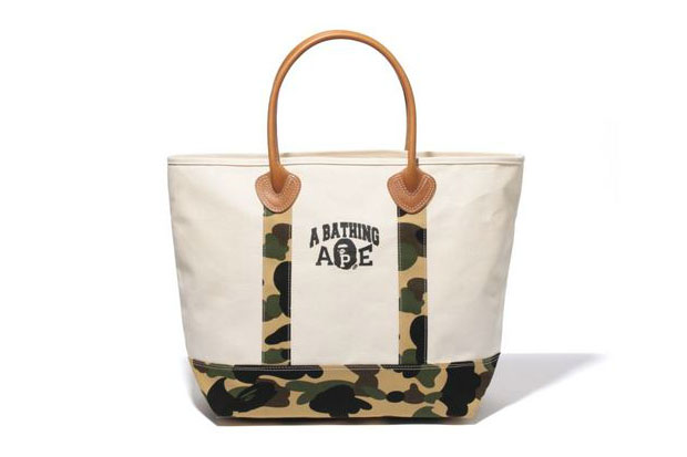 A Bathing Ape 1ST CAMO CANVAS TOTE BAG