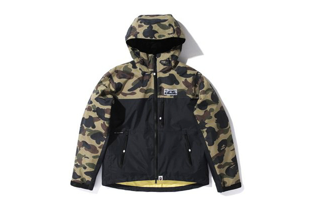 a bathing ape 1st camo pertex nylon light weight jacket