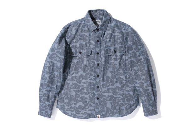 A Bathing Ape ABC CHAMBRAY WORK SHIRT