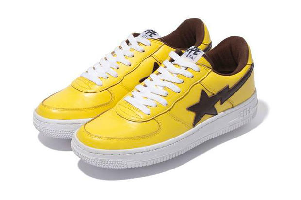 a bathing ape leather bapesta
