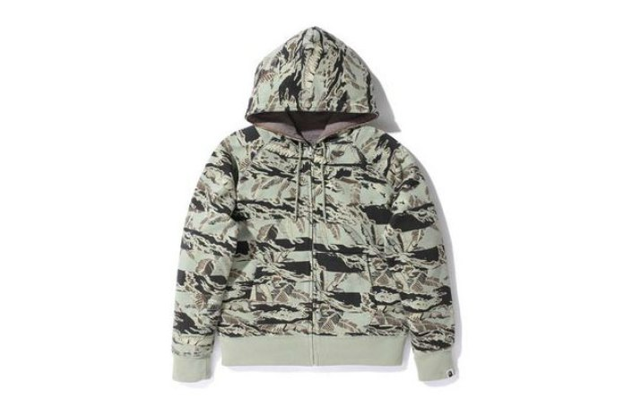 A Bathing Ape TIGERLEAFCAMO REVERSIBLE FULL